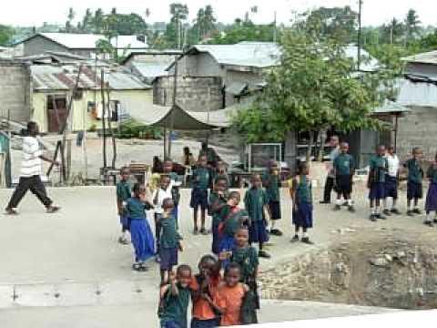 Dancing kids in Dar Es Salaam