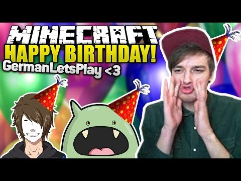 HAPPY BIRTHDAY GermanLetsPlay! Wir SINGEN! mit Ardy - Minecraft Survival Games | ungespielt