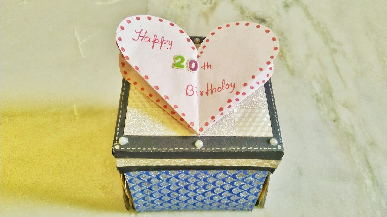 DIY  How to Make Infinity Explosion Box Card   For Sister   20th Birthday  Card for special ones   