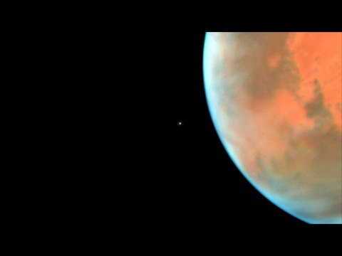 Phobos Photobombs Hubble's Picture of Mars