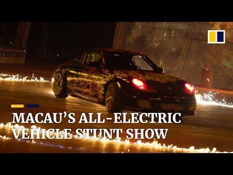 Behind the scenes at 'Elekron': Macau's new indoor all-electric vehicle stunt show