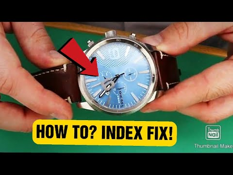 Diesel DZ-4443 | Index Fix | Watch Repair | Tutorial | Battery Replacement | The Watch Doctor