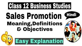 [RBSE] Video #30 | Class 12 Business Studies | Sales Promotion : Meaning,Definition & Objectives |