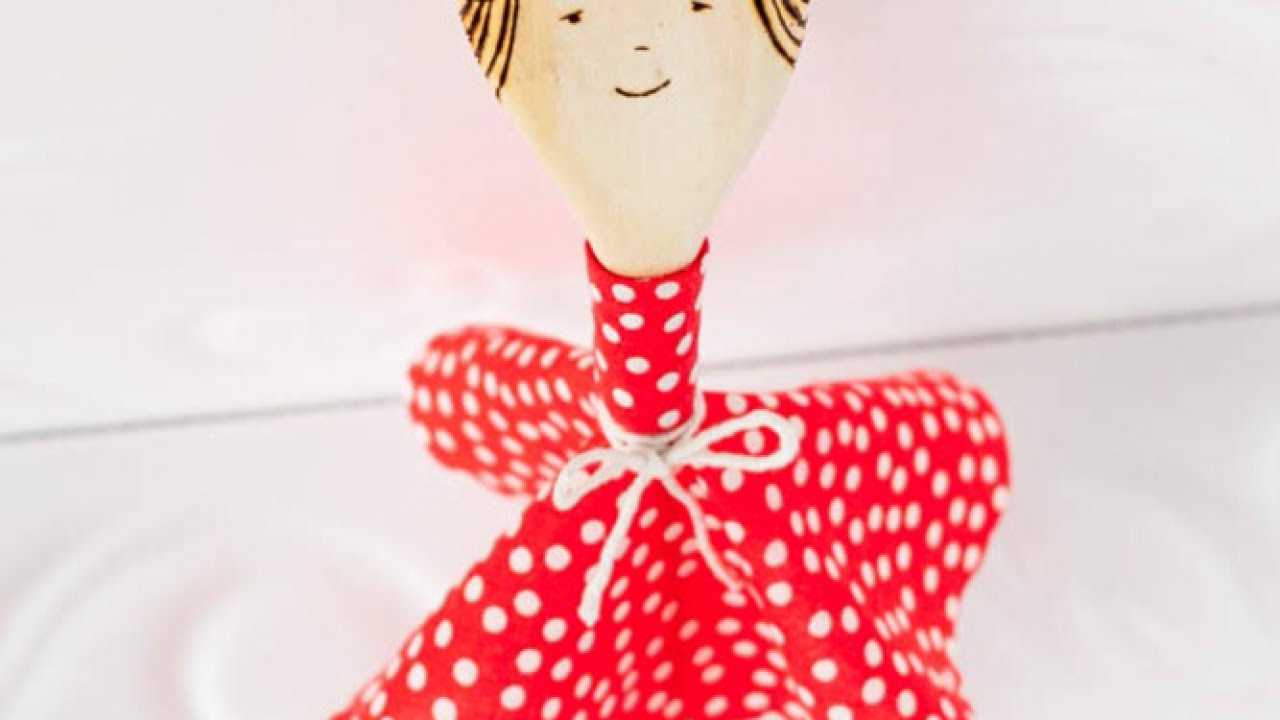 How To Make A Fun Wooden Spoon Doll Diy Crafts Tutorial