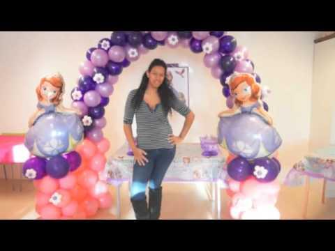 decoracion en globo de sofia - YouTube