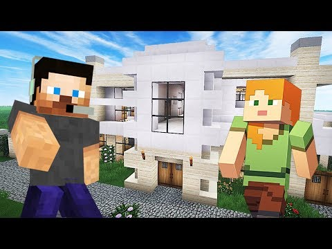 BUILDING OUR NEW HOUSE!! MINECRAFT w/ MY GIRLFRIEND!! (Minecraft #7)