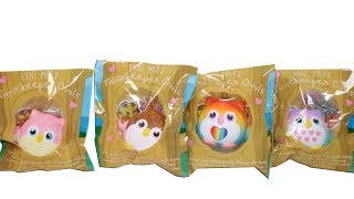Timekeeper Owls Squishies Unboxing Toy Review