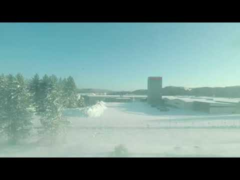 SLOW TV: Train through Snowy Finland - Jyväskylä to Helsinki. NO MUSIC