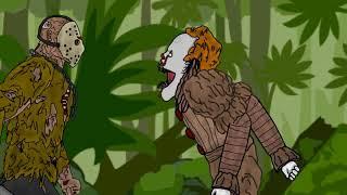 ES Pennywise vs Jason Voorhees - Zeichnen von cartoons 2