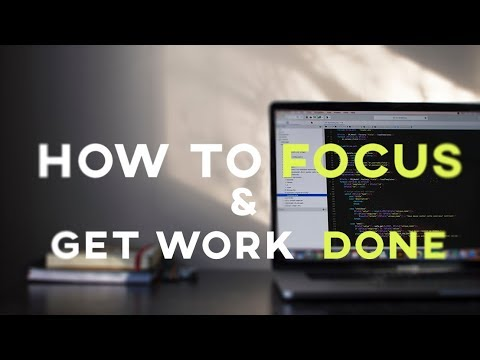 HOW STAY FOCUSED AT WORK AND GET IT DONE. thumbnail