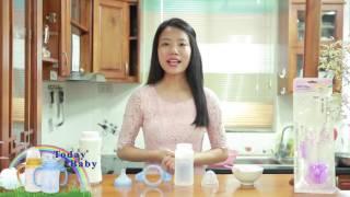 Hướng dẫn sử dụng bình sữa Silicone Today Baby