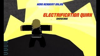 Electrification Quirk Showcase | Hero Academy Online [009] Alpha | ROBLOX