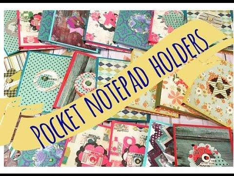 Craft Fair Idea 7 Pocket Notepad Holders Best Sellers 2016 Youtube