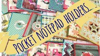 Craft Fair Idea #7:  Pocket Notepad Holders *BEST SELLERS* 2016