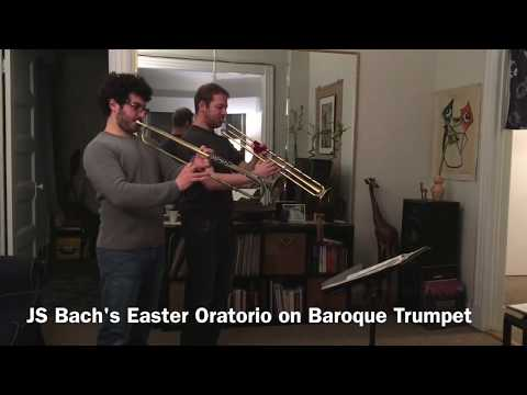 Baroque Trumpet vs. Piccolo Trumpet (Chris Coletti and Caleb Hudson) - Easter Oratorio