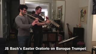 Baroque Trumpet vs. Piccolo Trumpet (Chris Coletti and Caleb Hudson) - Easter Oratorio
