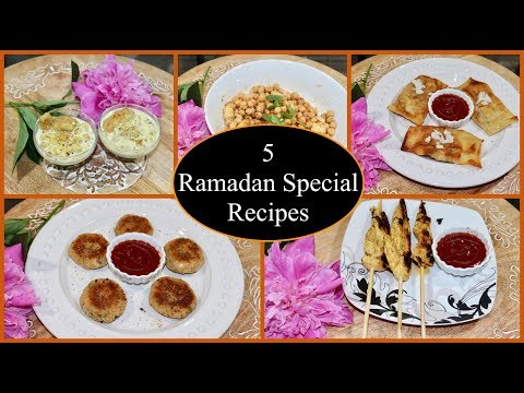 5 Easy Iftar Recipes | Quick  Ramadan Special Recipes | Simple Living Wise Thinking