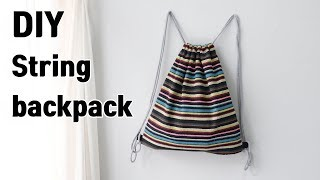 DIY/String backpack/Make a string backpack