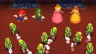 Mario Party 9 - Garden Battle - Mario VS Luigi VS Peach VS Daisy