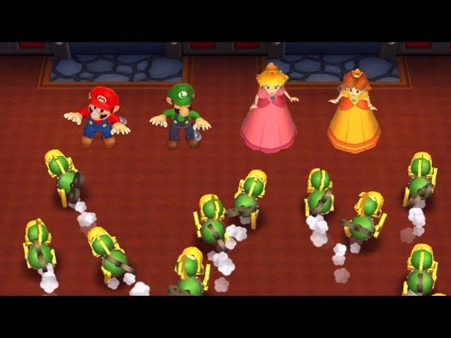 Mario Party 9 - Garden Battle - Mario VS Luigi VS Peach VS Daisy