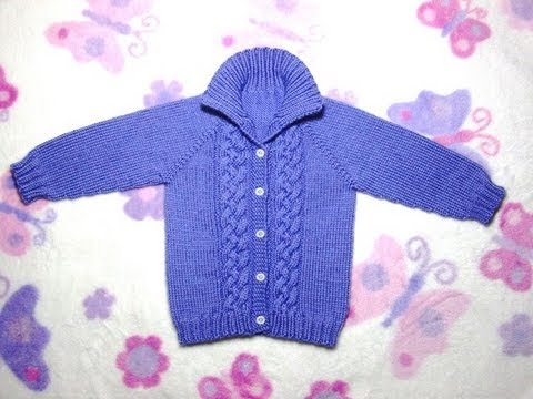 How to Knit a Seamless Braided Cable Baby Sweater Part 1