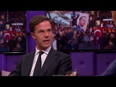 Rutte blikt terug op ontstaan Turkije-rel - RTL LATE NIGHT