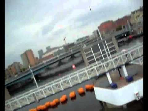 Kimberly Clark Ireland -Zipline aross the river La...