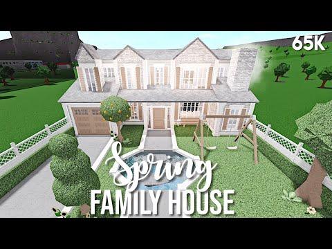 spring-family-house---bloxburg-speedbuild