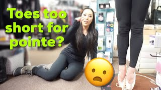 Pointe Shoe Fitting for Short …