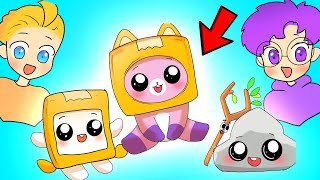 LANKYBOX Turn Into BABIES?! (ANIMATED LANKYBOX VIDEO!) *BABY BOXY, FOXY, & ROCKY!*