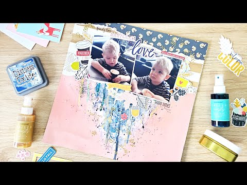 Babyccino Love | 12x12 Scrapbook Layout | Scrap The Boys Challenge | September 2020