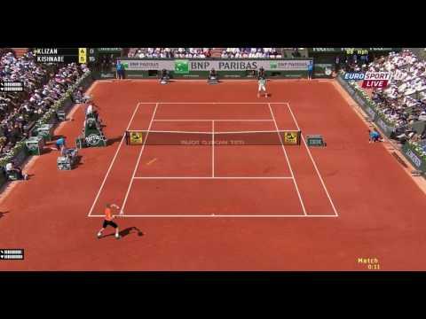 [Tennis Elbow 2013] R. Federer V.S.  M. Klizan, A Lefty Problem, Online Match,  ITST 1.18