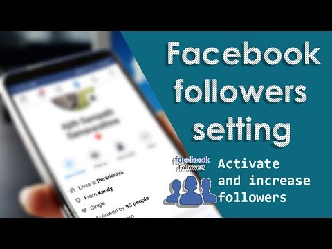 Followers On Facebook Settings 2019