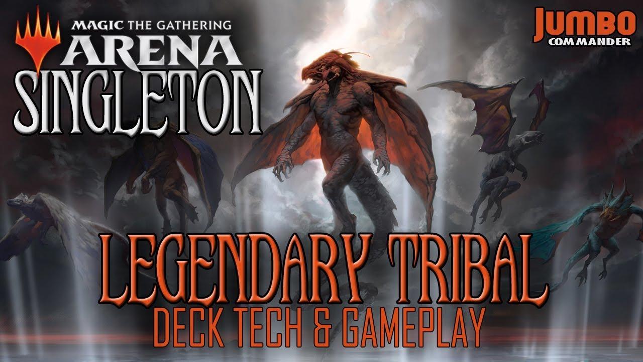 MTG Arena Singleton: Legendary Tribal Deck Tech and Gameplay