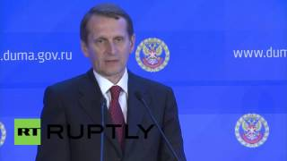 Russia: West turns blind eye to elements of Ukraine conflict - Naryshkin