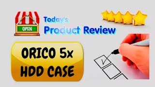 Orico 5x bay HDD enclosure for SATA3 hard disks, 40 TB total (5x8TB)