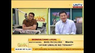 Paano kung ayaw umalis ng tenant?   Ikonsultang Legal