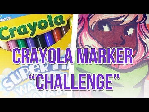 CRAYOLA MARKER CHALLENGE + Giveaway!!