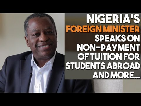 Nigeria's Foreign Minister Discusses Reforms Across Embassies And Non Payment of Students Tuition