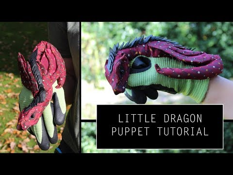 Little dragon puppet tutorial/walkthrough