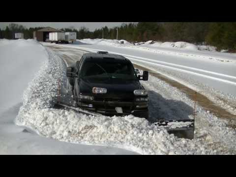 Thumbnail: Snow Plowing Darth Dually with Snowdogg V Plow Pushing Wet Snow