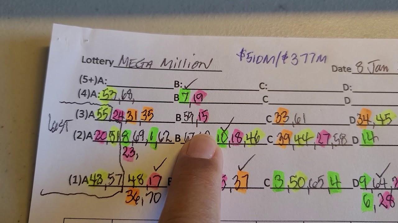 Mega Million Numbers For 8 Jan 2021 Matrix Forms Explained Youtube