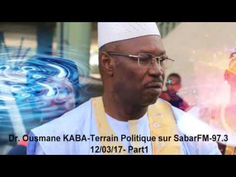 Dr. Ousmane KABA-Terrain Politique sur Sabari FM 97.3 (Part1)