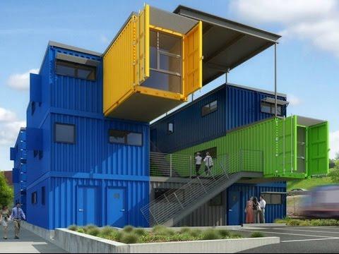 Dise os de casas con contenedores youtube for Arquitectura contenedores maritimos