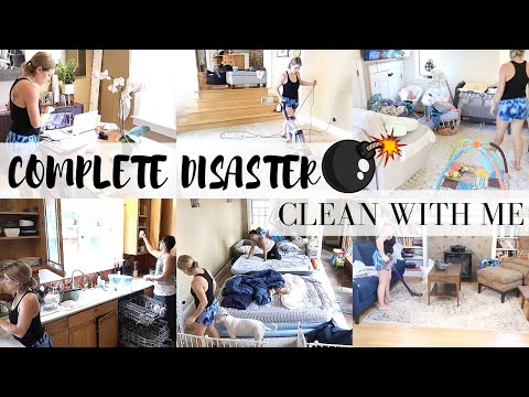 NEW! COMPLETE DISASTER   CLEANING A HUGE MESS   BEFORE AND AFTER   SAHM