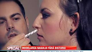 Modelarea nasului fara bisturiu(Cred ca nu exista femeie in lumea asta, care sa se declare perfect multumita de modul in care arata! Poate sa fie cel mai tare supermodel, poate sa fie Miss ..., 2013-11-04T19:37:59.000Z)