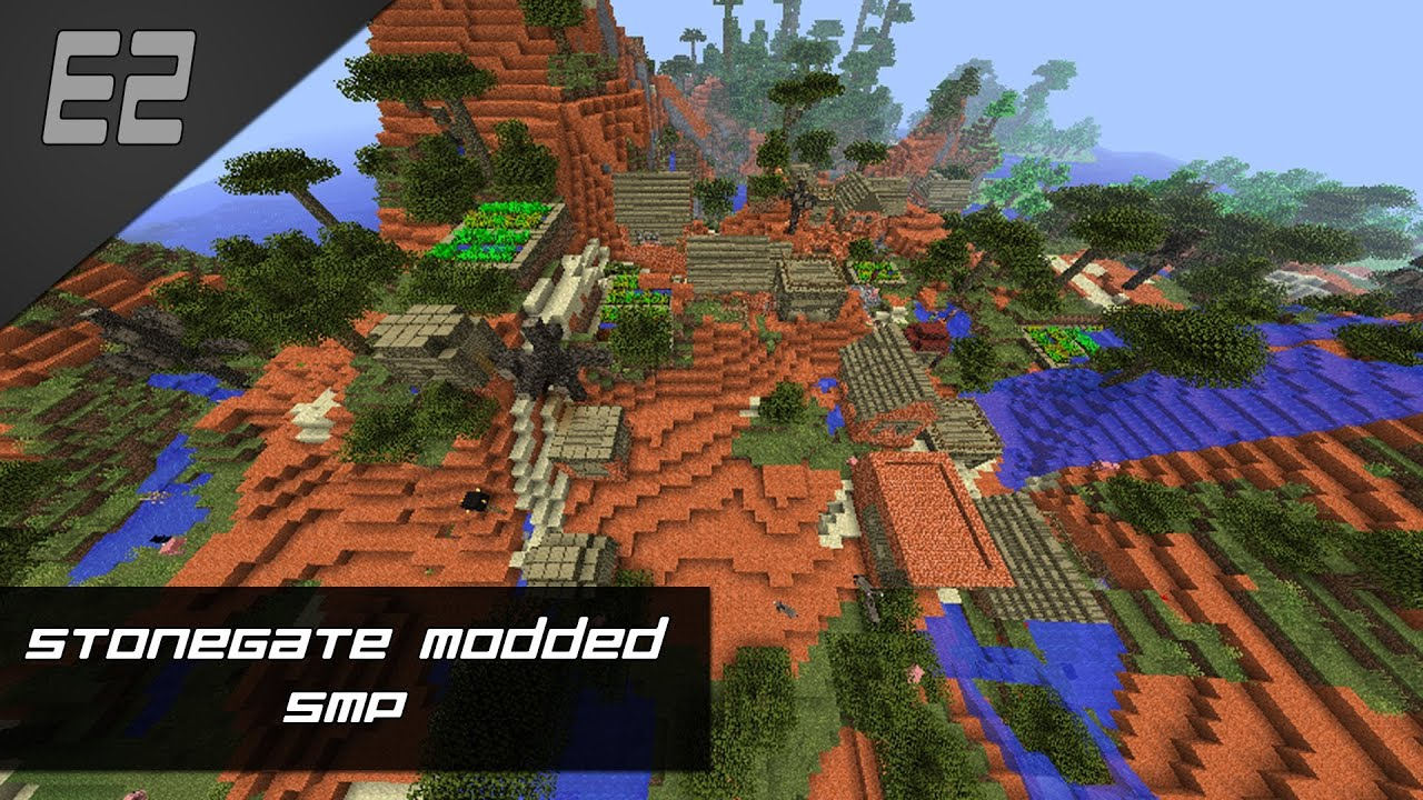 Minecraft: StoneGate Modded SMP - S1E02 - Exploring & Caving