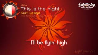 "Kurt Calleja - ""This Is The Night"" (Malta) - [Karaoke version]"