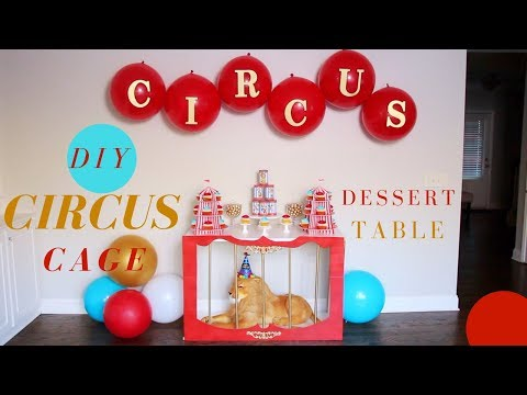 DIY Carnival & Circus Birthday Decor | DIY Cage Dessert Table | DIY Party Decor