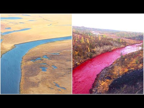 This Russian River Mysteriously Turned Blood Red  Then A Nickel Plant Revealed The Horrible Truth
